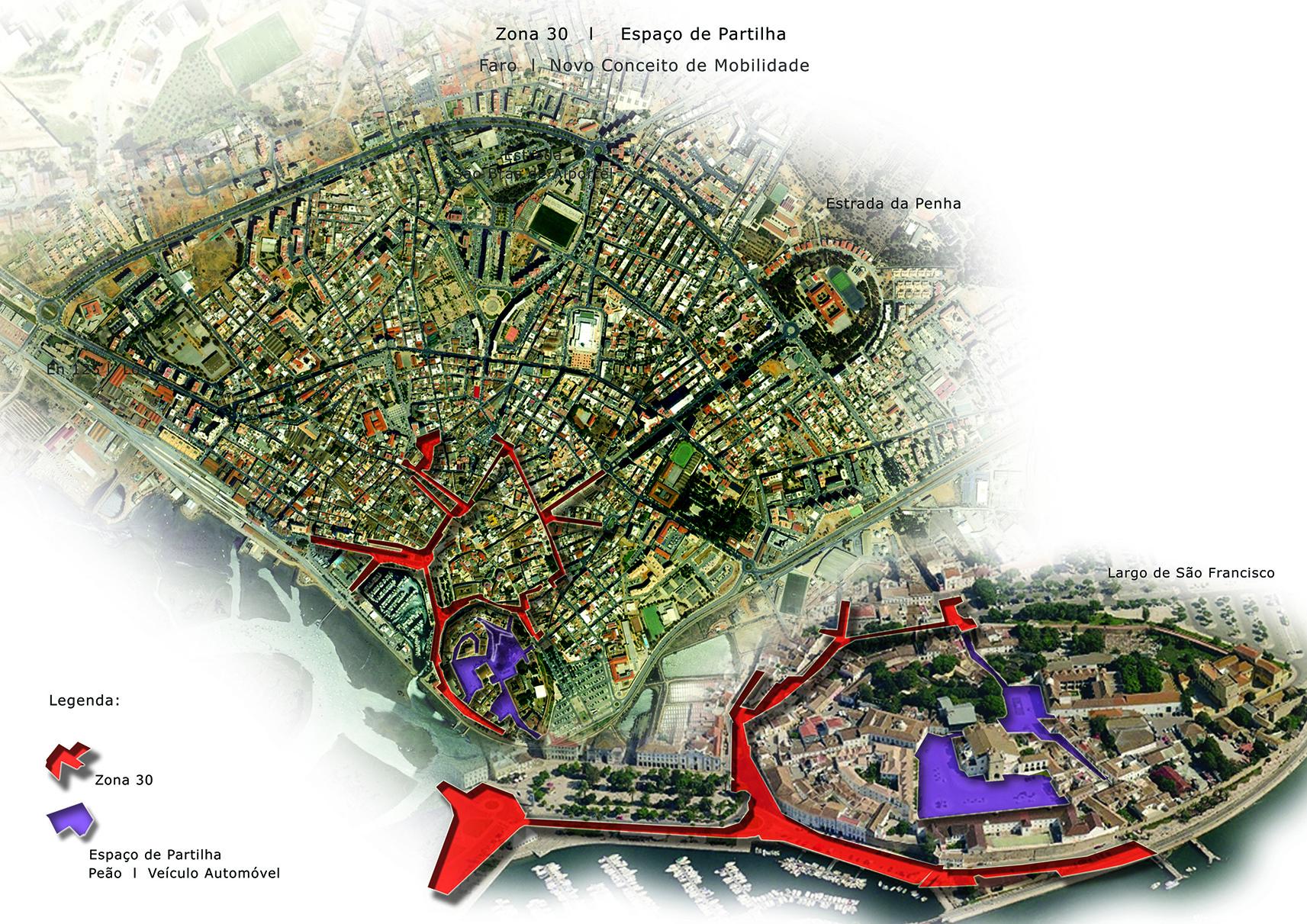 alt Painel final zona 30 e zonas partilhadas